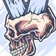 Skateboard Through Skull - GraphicRiver Item for Sale