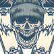 Skull and Two Broken Skateboards - GraphicRiver Item for Sale
