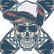 Skull and Two Crossed Skateboards - GraphicRiver Item for Sale
