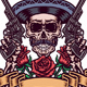 Mexican Skull with Guns - GraphicRiver Item for Sale