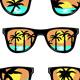 Set of Beach Sunglasses - GraphicRiver Item for Sale