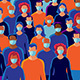 Group of People Wearing Protective Medical Face Masks - GraphicRiver Item for Sale