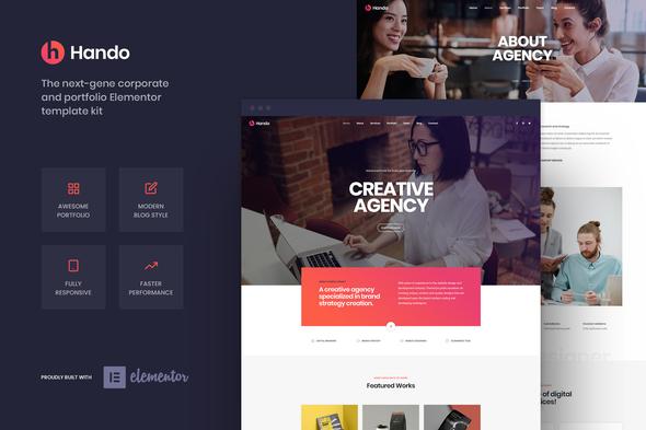 Hando - Corporate & Portfolio Elementor Template Kit
