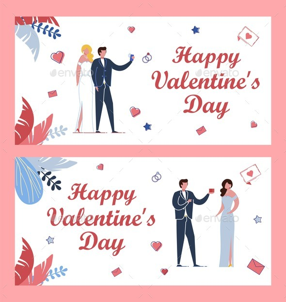 Greeting Cards Bundle for Saint Valentines Day.