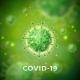 Covid-19 Coronavirus Outbreak Design with Virus - GraphicRiver Item for Sale
