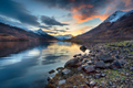 Sunset from the shores of Loch Leven - PhotoDune Item for Sale
