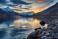 Beautiful sunset with snow capped mountains from the shores of Loch Leven - PhotoDune Item for Sale