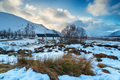 A cottage in the snow at Glencoe - PhotoDune Item for Sale
