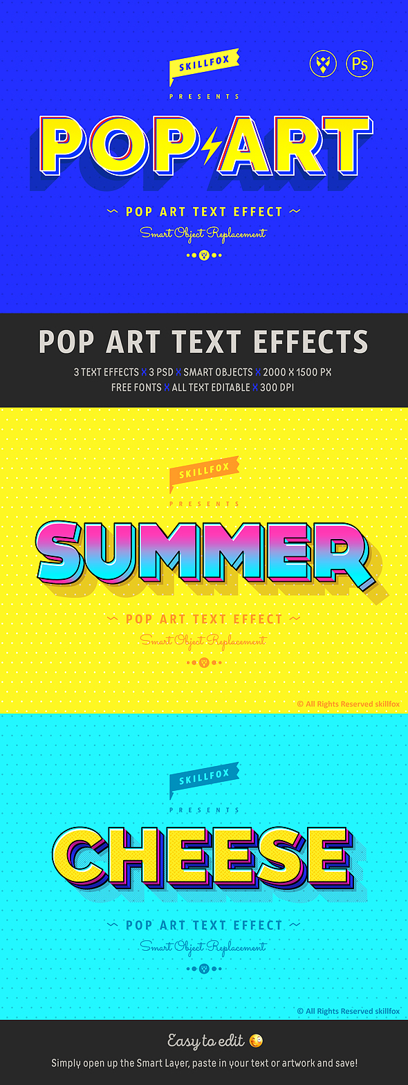Pop Art Photoshop Effects
