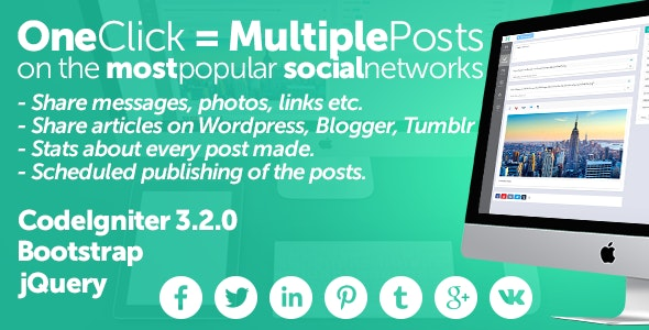 Midrub Posts schedule and publish on the most popular social networks Free Download #1