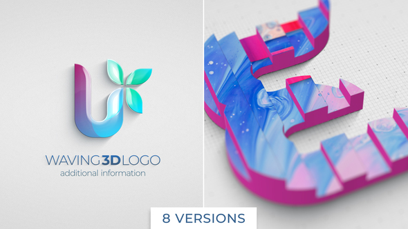 Waving 3D Logo Reveal
