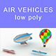 Low-poly Air vehicles (set 1) - 3DOcean Item for Sale