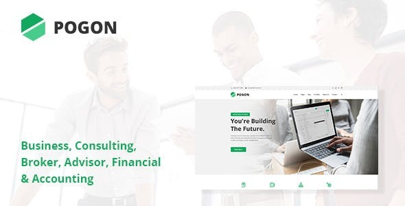Pogon - Business and Finance Corporate WordPress Theme