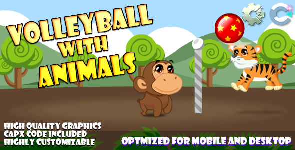 Volley Ball With Animals (C2,C3,HTML5