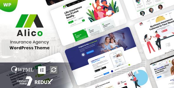 Alico – Insurance Agency WordPress Theme Preview