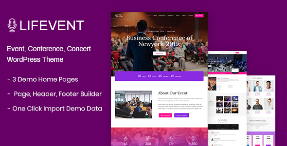 Lifevent - Event WordPress Theme