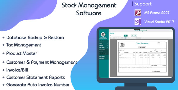 Stock Management System-C# WPF-Ms Access Download