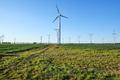 Backlit modern wind turbines - PhotoDune Item for Sale
