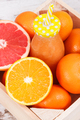 Freshly blended orange coctail from fruits. Diet and healthy nutrition concept - PhotoDune Item for Sale
