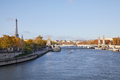 Seine river view with Eiffel tower and Alexander III bridge, wide angle view in a sunny day in Paris - PhotoDune Item for Sale