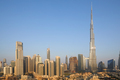 Burj Khalifa skyscraper and Dubai city view in a sunny morning - PhotoDune Item for Sale