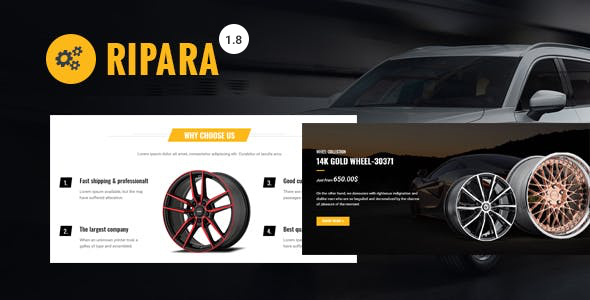 Ripara - Auto Repair & Car WooCommerce WordPress Theme