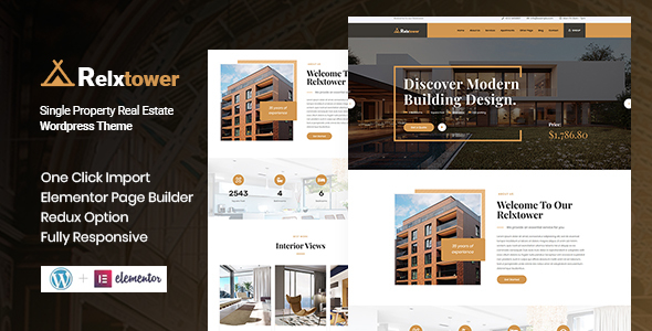 Relxtower – Single Property WordPress Theme Preview