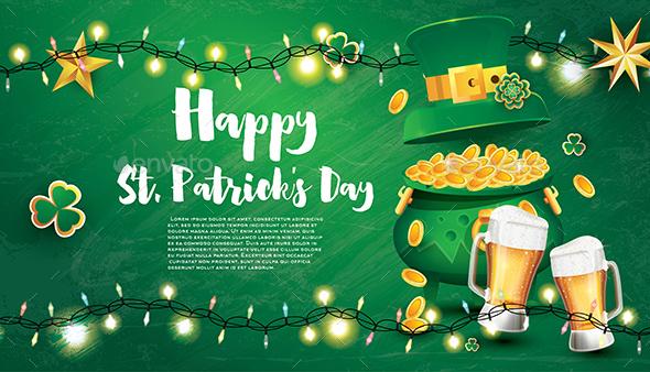 Saint Patricks Day Festive Banner
