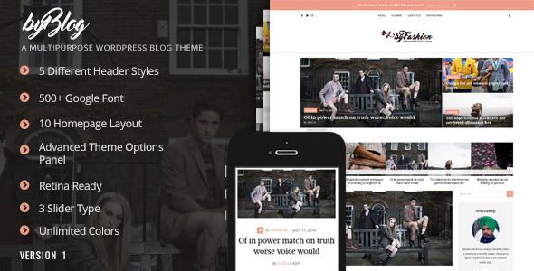 Byblog - Responsive WordPress Blog Theme