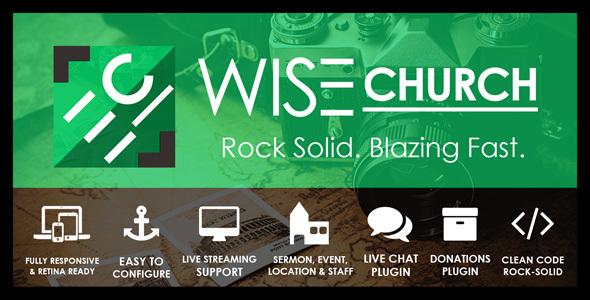Wise Church | Multi-Purpose Online Ministry WordPress Theme