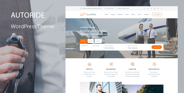 AutoRide - Chauffeur Booking WordPress Theme
