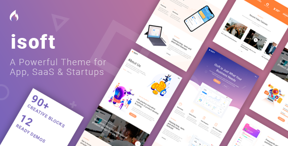Isoft - Software Landing Page