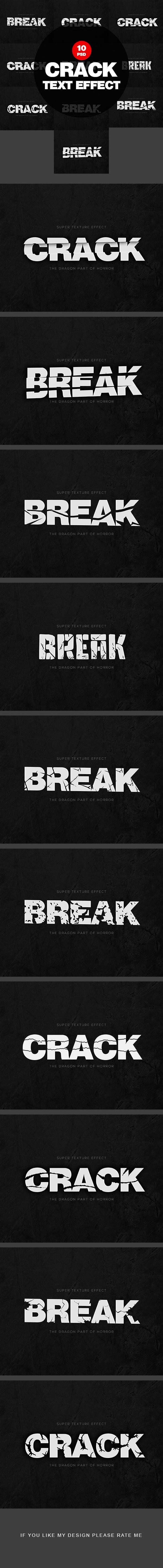 Break Crack Text Effect