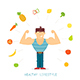 Strong Man and Healthy Lifestyle - GraphicRiver Item for Sale