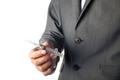 Man in suit holding syringe - PhotoDune Item for Sale