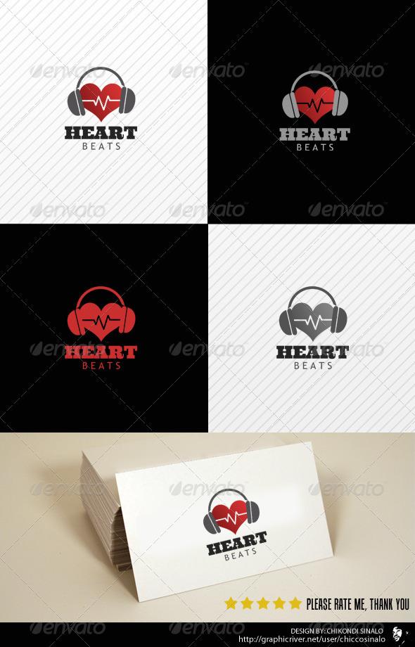 Heart Beats Logo Template