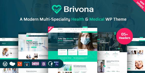 Brivona - Medical, Health and Hospital WordPress Theme
