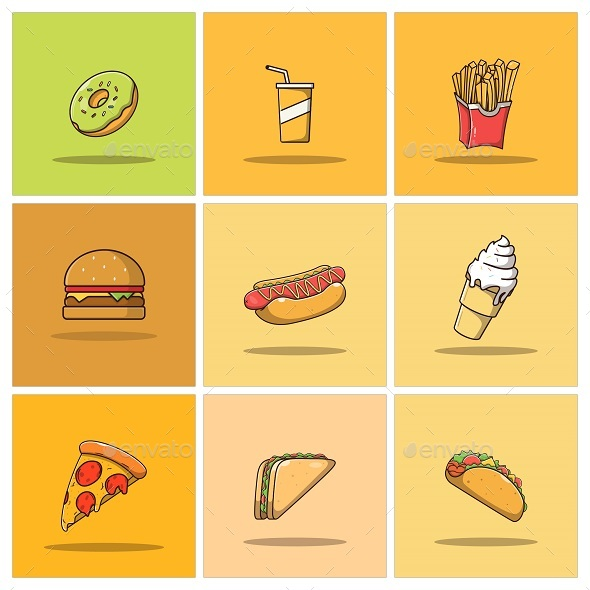 Fast Food Icon Collection Part 1