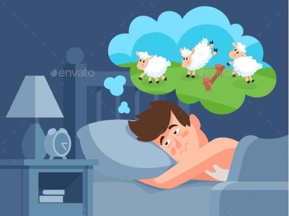 Man Counts Sheep To Sleep