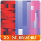 30 Horizontal Vertical Stripes Photoshop Brushes - GraphicRiver Item for Sale