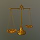 Antique balance Scale 3D model high poly no subdivision - 3DOcean Item for Sale