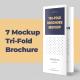 7 Mockups Leafleat DL Trifold Brochure - GraphicRiver Item for Sale