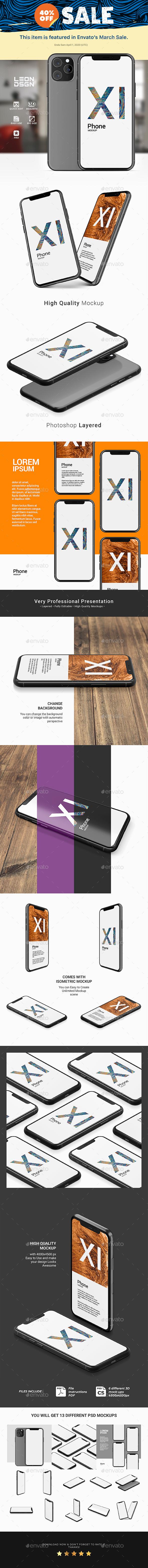 Phone 11 - App Presentation Mockup