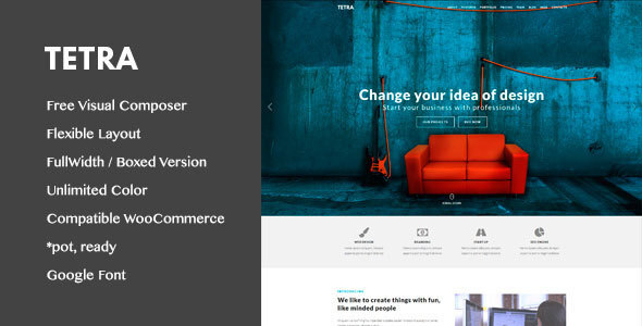 Tetra - Digital Marketing Landing Pages WordPress Theme