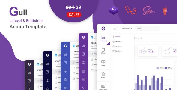 Gull - Laravel + Bootstrap 4 HTML Admin Dashboard Template