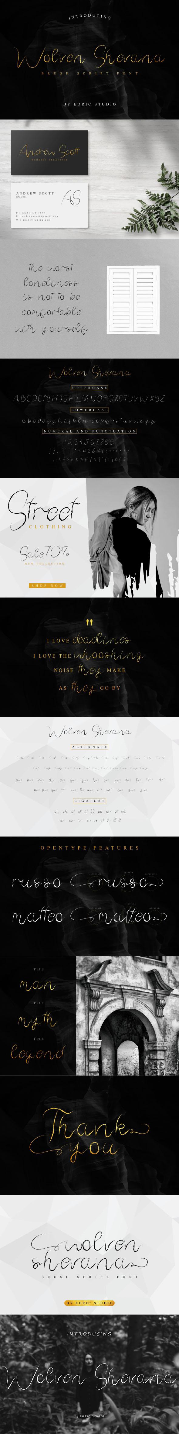 Wolven Shevana Font