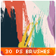 30 Handmade Watercolor Paint Photoshop Brushes - GraphicRiver Item for Sale