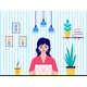 Woman Works at Home - GraphicRiver Item for Sale