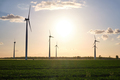 Landscape with modern wind turbines - PhotoDune Item for Sale