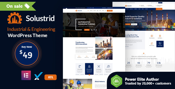 Solustrid - Factory & Industrial Business WordPress Theme